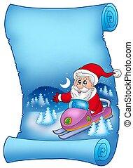 Blue parchment with Santa Claus 8