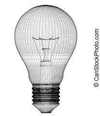 Light Bulb, body structure, wire model ,