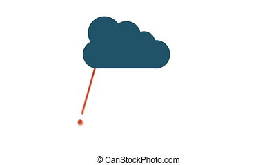 Cloud animation - Cloud with icons, Video animation, HD 1080