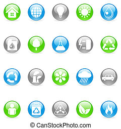 Environmental icons. - Set of 20 environmental icons.