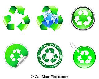 Recycle symbols.