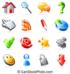 Vector web icons - Set of 16 vector web icons