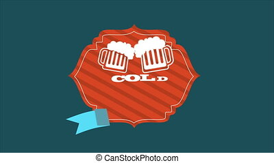 Cold Beer Animation - Cold Beer, Video Animation HD 1080