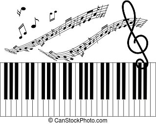 Music background - Illustration of music background