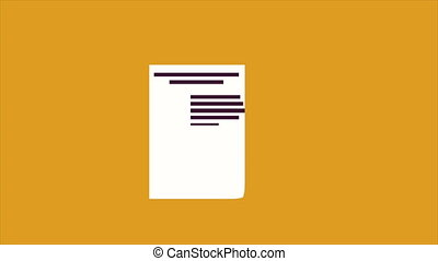Document and pen Animation - Document and pen, Video...