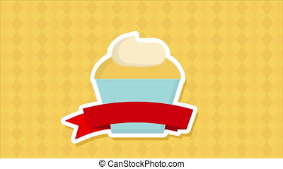 Cake with ribbon Animation - Cake with ribbon, Video...