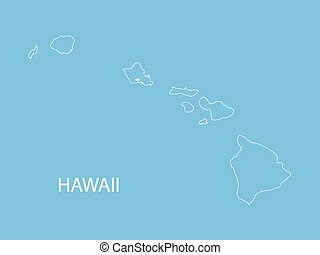 outline of Hawaii map