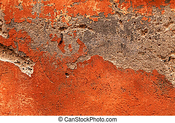 anticaglia, arancia, danneggiato, intonacare, struttura
