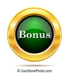 Bonus icon. Internet button on white background.