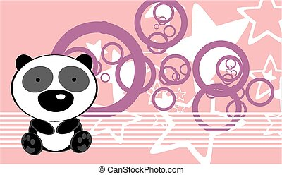 cute baby panda bear background in vector format very easy...