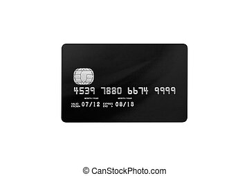 bank card on a white background