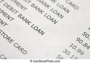 Bank and credit card statement