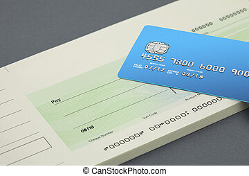 Cheque book and bank card
