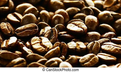Coffee beans background - Big Heap of Fragrant Roasted Brown...