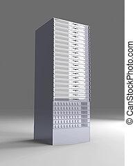 19inch Server tower - 3D rendered Illustration.