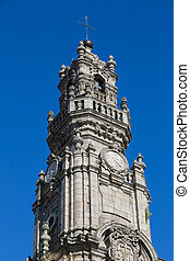 Bell tower in Porto, Portugal