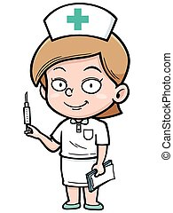 Nurse - Vector illustration of Female Nurse