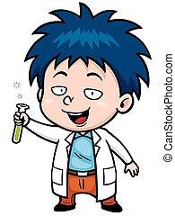 Scientist - Vector illustration of Cartoon Scientist