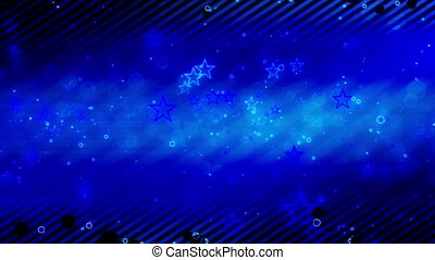 Retro Looping Blue Star Backdrop
