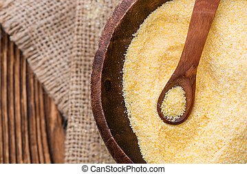 Portion of Cornmeal - Portion of fresh Cornmeal (close-up...