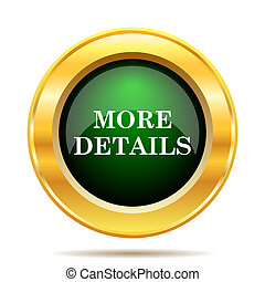More details icon Internet button on white background