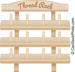 Wood Thread Storage Rack