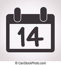 14, 2 月, , calendar, バレンタイン, 日,