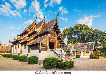 Wat Ton Kain 700 years, Old wooden temple in Chiang Mai...