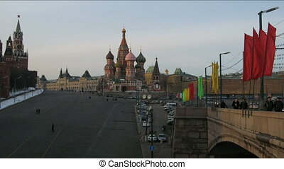 Saint Basil\'s Cathedral time lapse , Moscow, Russia