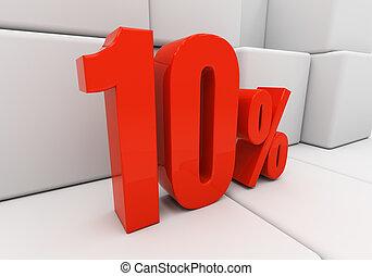 3D red 10 percent