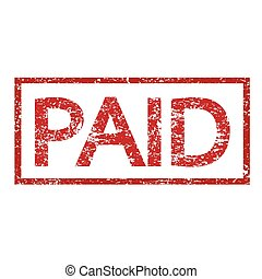 stamp paid text