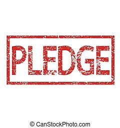 Stamp PLEDGE word
