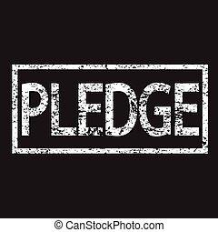 Stamp PLEDGE word