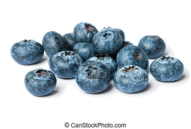 Blueberry isolated on white - Blueberry antioxidant...