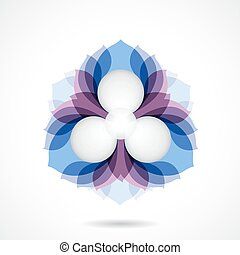 Creative abstract vector logo design template.
