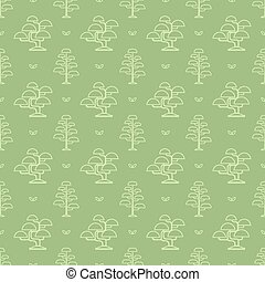 bonsai tree pattern - Seamless pattern with bonsai tree...
