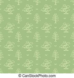 bonsai tree pattern - Seamless pattern with bonsai tree...