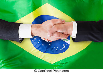 Two Businesspeople Shaking Hands - Close-up Of Two...