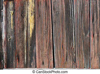 Wooden planks - Weathered striped textured obsolete wooden...