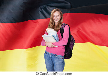 German Female Student