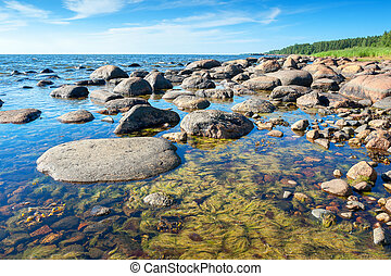 Coast of Baltic Sea Estonia - Coastline of Baltic Sea near...