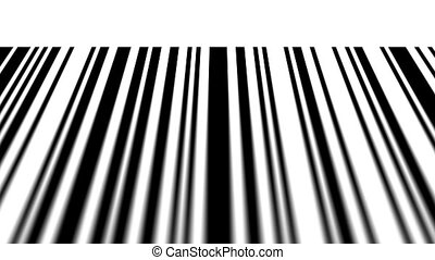 Barcode reading on white background. Depth of fields.