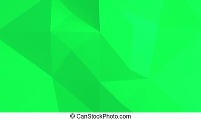 Green Abstract 3d background with polygonal pattern.