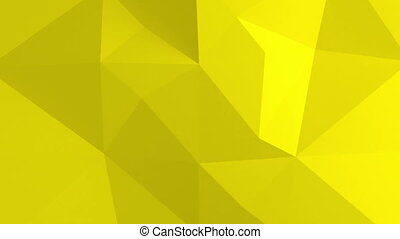 Abstract 3d background with polygonal pattern Yellow color