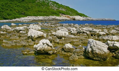 Island Mljet - Strait - narrow navigable channel in Adriatic...
