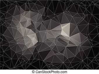 Black abstract polygonal background - Black abstract...