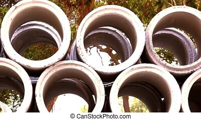 Industrial concrete pipe for building construction Video...