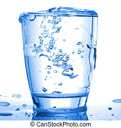 water wellness - wellness concept with glass or cup of water...