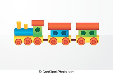 Childrens color toy train
