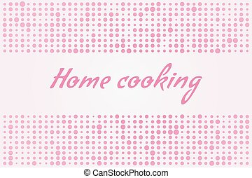Home cooking on a pink background